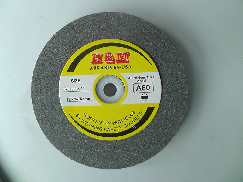 "Aluminum Oxide BENCH GRINDING WHEEL VITRIFIRD 6"" x 1"" x1"" 100 Grit Bench Grinder"