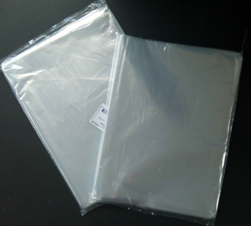 100 Clear 14 X 20 Poly Bags Large Plastic 1 Mil Flat Open Top