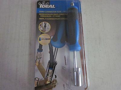 IDEAL 35-046 COAX CONNECTOR TOOL F & BNC 3/8-32 THREAD END COAXIAL CABLES CATV