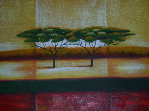 minimal+trees+large+oil+painting+canvas+african+landscape+contemporary+original