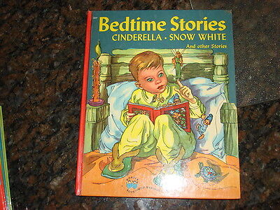 1946 Children's Book BEDTIME STORIES Cinderella Snow - Bedtime Stories Snow White