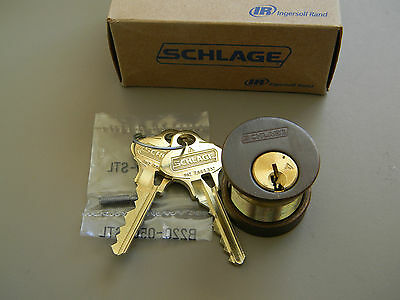 Schlage Everest 29 Mortise Cylinder- Oil Rubbed Bronze- S123 - New