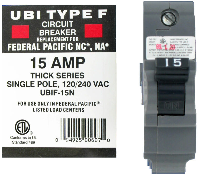 UBI Replacement for Federal Pacific 1P 15A NA Breaker