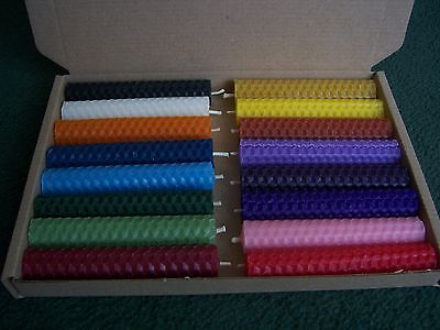 Spell Candles - 16 Hand Rolled Beeswax (10cm/4 Inch) Altar/Wicca/Pagan