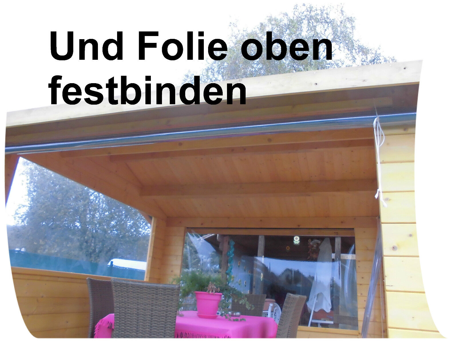 klarsichtfolie 13 50 m transparente pvc folie durchsichtige folie 1 mm stark eur 6 75. Black Bedroom Furniture Sets. Home Design Ideas