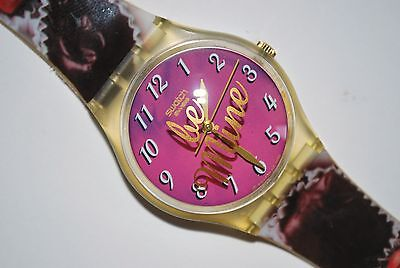 1999 Swatch Watch GK 291 BE MINE Unisex Swiss Quartz Valentine's Day Special  for sale  Shipping to India