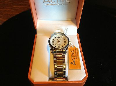 Activa silver color water resistant watch  Swiss made