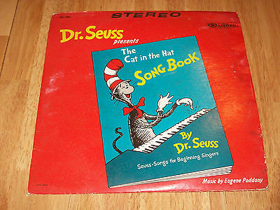 Dr Seuss Presents The Cat In The Hat Song Book 33 1/3 LP Record 1967