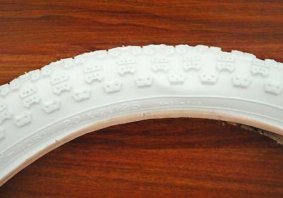 WHITE KENDA BMX BIKE BICYCLE TIRE 20x2.125 20 x 2.125 ()