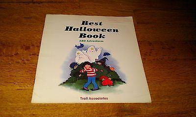 Best Halloween Book ABC ADVENTURES Troll Associates 1985 Holiday Book Cute kids](Best Halloween Kids Books)