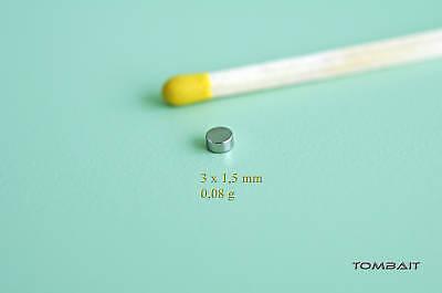 10 Stück Neodym Mini Magnet 3x1,5mm kleine starke Super Magnete Pinnwand Büro