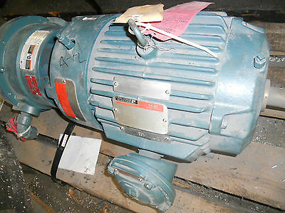 RELIANCE STEARNS BRAKEMOTOR 10HP EXPLOSIONPROOF ELECTRIC MOTOR 1750 RPM