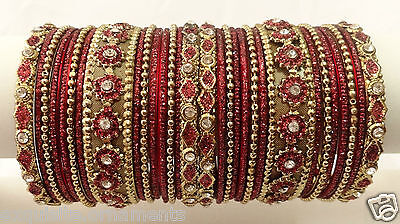 Indian Bollywood Ethnic Wedding bangles bracelet Fashion Jewelry Avl in 12 color