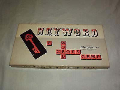 VINTAGE TOY 1953 PARKER BROTHERS CROSS WORD GAME KEYWORD