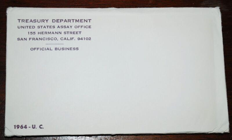 "1964 Official U.S. Mint Set. 10 Coins. All ""PD"" mints. Envelope Still Sealed."