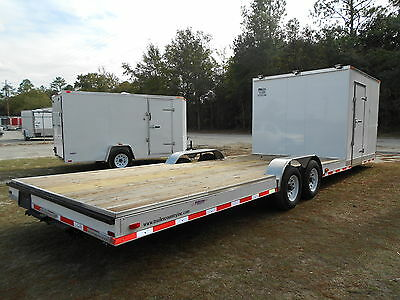 New 8.5 X 30 8.5x30 Hybrid Enclosed Cargo Open Utility Atv Car Hauler Trailer