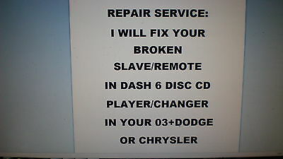 Repair Service Only 6 Disc Cd Player Changer 02 Chrysler Town Country No Radio