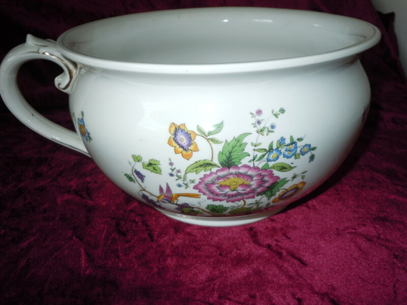 OLD VINTAGE CHAMBER POT BRIDGEWOOD ANTIQUE PORCELAIN GOODE & CO ENGLAND VINTAGE