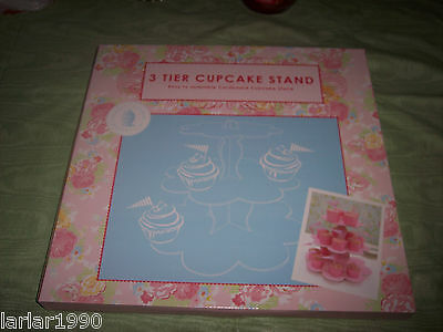 ROBERT GORDON~AUSTRALIA~3 TIER CUPCAKE STAND~PINK~NEW