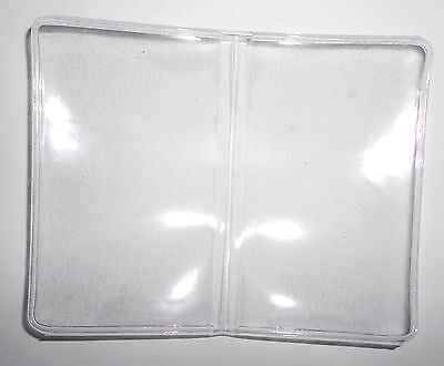 Anglers Roslyn Clear Vinyl Pass. License Business Card Wallet Stock No. 95