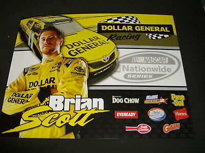 2012 Brian Scott  11 Dollar General Nascar Postcard