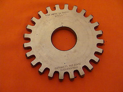 Dathan Gear Cutter Disc Shaper Finishing Non Topping 6 Dp 14.5 Pa 24 T 1.25 Bore