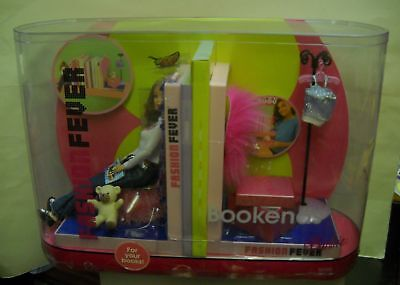#1041 NRFB Mattel Fashion Fever Barbie Doll w/Bookends