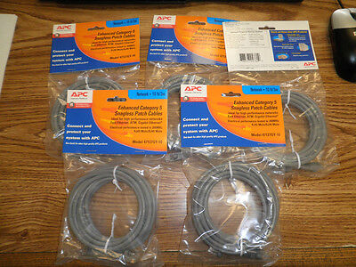 Lot of APC Model: 47127GY-10 Enhanced Category 5 Snagless Patch Cables.  Qty. 5< Apc Category 5 Enhanced Patch