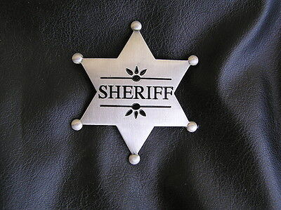Quality Costumes Australia (UK ~ SHERIFF BADGE Silver-Plated Replica *NEW & High Quality*)