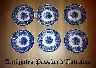 B20121267 - 6 sous tasses Maestricht décor Castillo - Très bon état