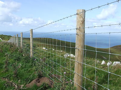 50m roll x 80cm L8/80/15 Galvanised UK Stock Fencing, wire fence sheep pigs dog