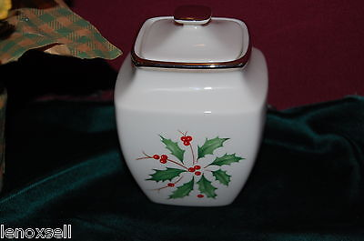Lenox Holiday Platinum Square Sugar Bowl NEW USA 1st Q Square Sugar Bowl