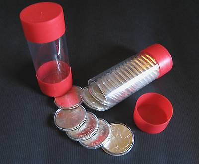 10 Air-tite Coin Cap-Tube - Tite Holders Model-H Silver Eagle Dollar Bullion