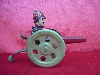 Tin Toy __kanonen-mann__Mechanical
