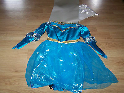 Brave Halloween Costumes Disney (Size 4-6X Disney Princess Brave Merida Deluxe Costume Dress Up Halloween )