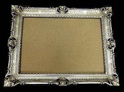 Bilderrahmen Antik Silber groß 70x90 Bilderrahmen jugendstill Rechteckig Barock (Große Kunststoff-bilderrahmen)