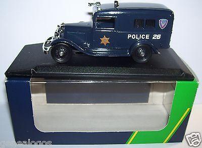 RARO ELIGOR FORD V8 1934 CAMIONETA POLICE POLICÍA USA REF 100198 EN BOX 1/43