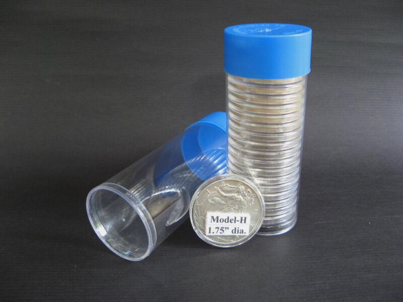 5 Airtite Cap-Tube Tite-2 Coin Holders for Model-H  Silver Eagle Dollar Bullion