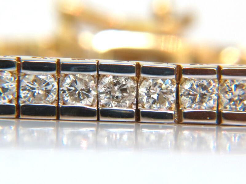 █$8000 Video 4.00ct Round Diamonds Bracelet H Vs A+ Full Cuts 14kt Channel  █