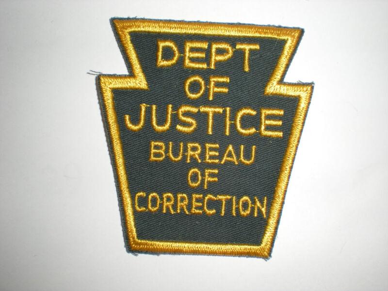 PENNSYLVANIA DEPARTMENT OF JUSTICE BUREAU OF CORRECTIONS PATCH