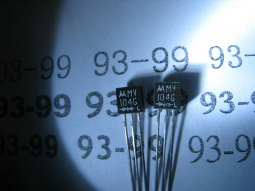 Motorola new MV104G X1  , Dual Varicap Tuning Diode, TO-92, CT=34~39pf