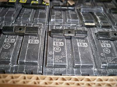 Ge Thql2115 15a 2p 240v Plug In Circuit Breaker Lot Of 3 Used