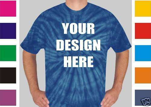 100 Custom Screen Printed TIE DYE T-Shirts TYE - $6.75 each