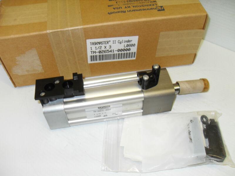 *NEW* REXROTH TM-026541-00000 TASKMASTER II PNEUMATIC CYLINDER 1-1/2 X 3 150 PSI