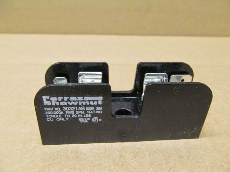 1 NEW FERRAZ SHAWMUT 30321AB FUSE BLOCK 30A 600V