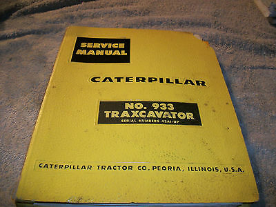 Original Caterpillar 933 Traxcavator Service Manual Sn 42a1 - Up