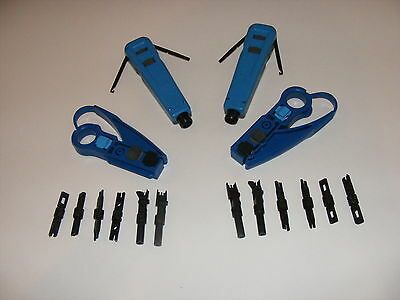 110 & 66 block punch down impact tool cat 6  bix blade 2 sets free utp stripper ()