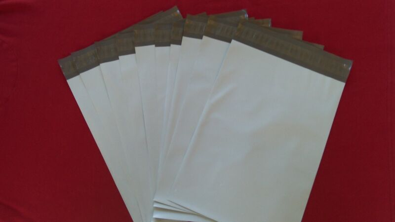 """300 6x9"""" & 5x7"""" & 4x6"""" White Poly Mailers Shipping Envelopes Bags 100 Each"""