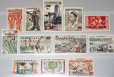 CAMEROUN KAMERUN 1961 332-43 343-1 C38-40 Definitives new currency ovp Fauna MNH