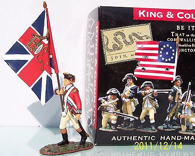 KING & COUNTRY BRITISH REVOLUTIONARY BR035 MARCHING OFFICER UNION JACK FLAG MIB